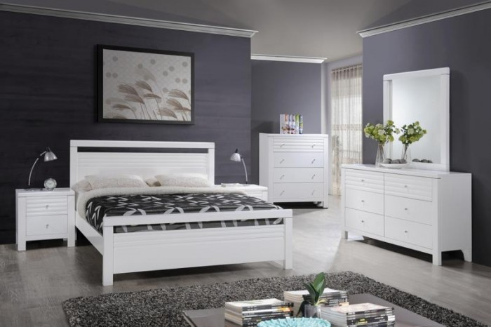 FERN DOUBLE BED-WHITE