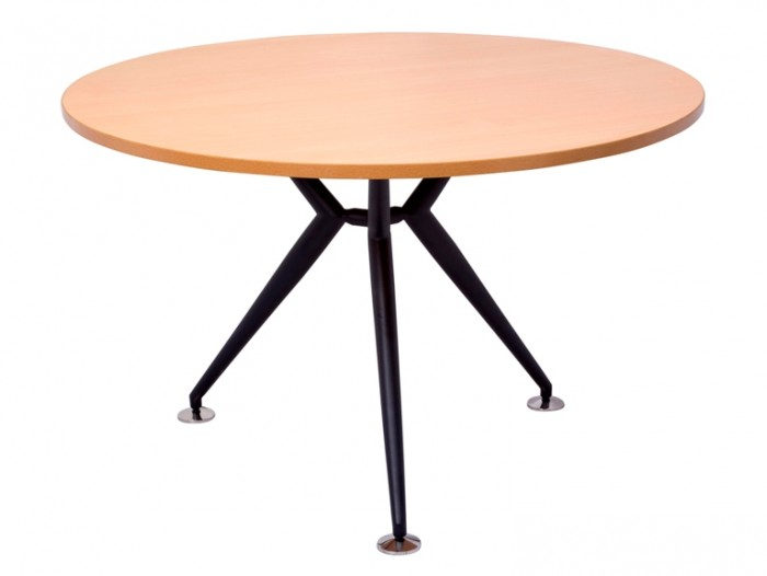ROUND TABLE BLACK STEEL BASE