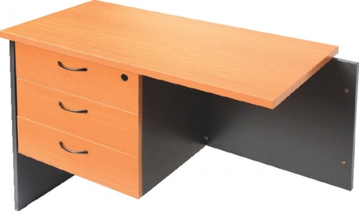 FIXED DESK PEDESTAL - 3 X BOX DRAWERS - LOCKABLE