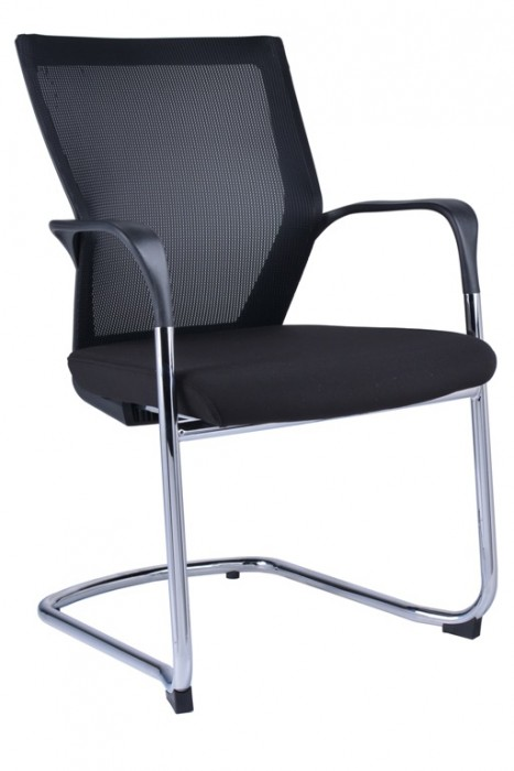 WMCC CANTILEVER CHROME FRAME WITH ARM VISITOR CHAIR